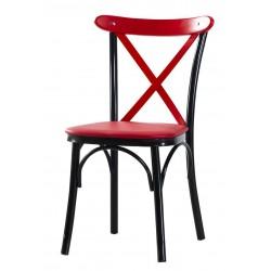 London Kırmızı Siyah Sandalye